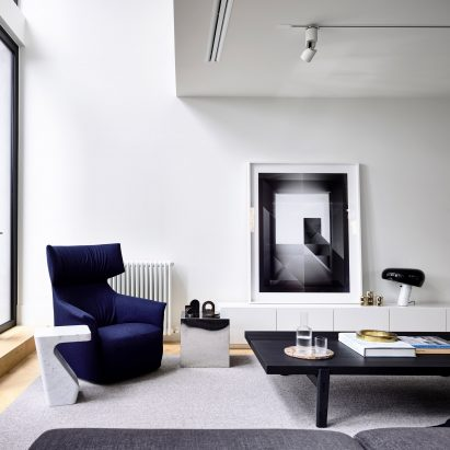 Residential interior design   Dezeen Conrad Architects divides Melbourne townhouse into informal and formal  living areas