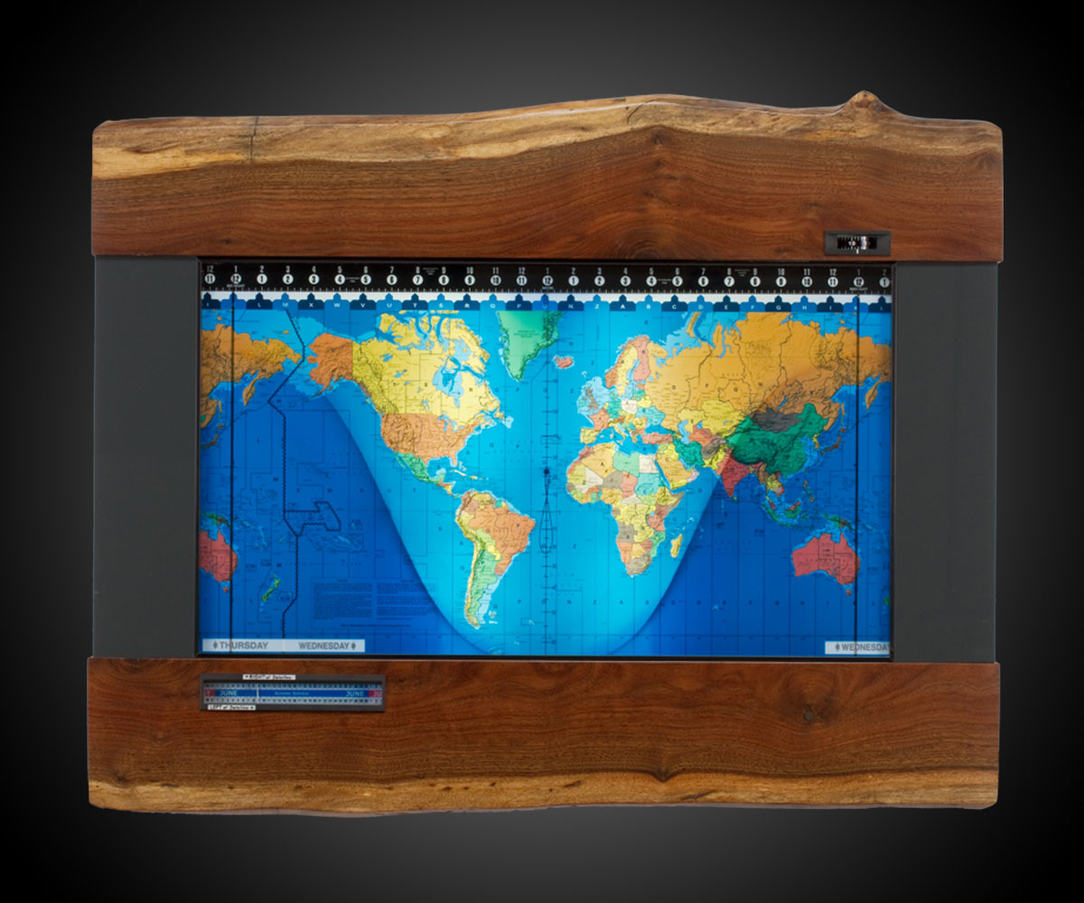 Geochron World Map   24 Hour Clock   DudeIWantThat com Geochron World Map   24 Hour Clock