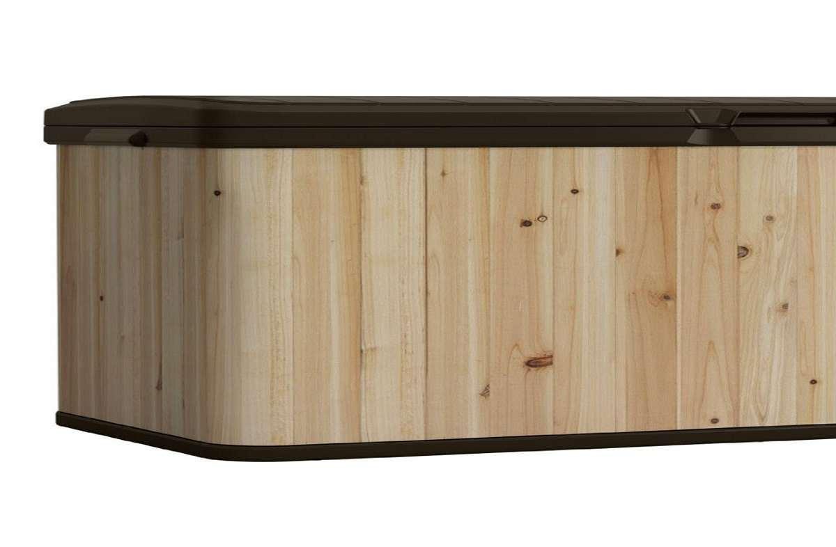 Suncast Wood Amp Resin Deck Box Dudeiwantthat Com