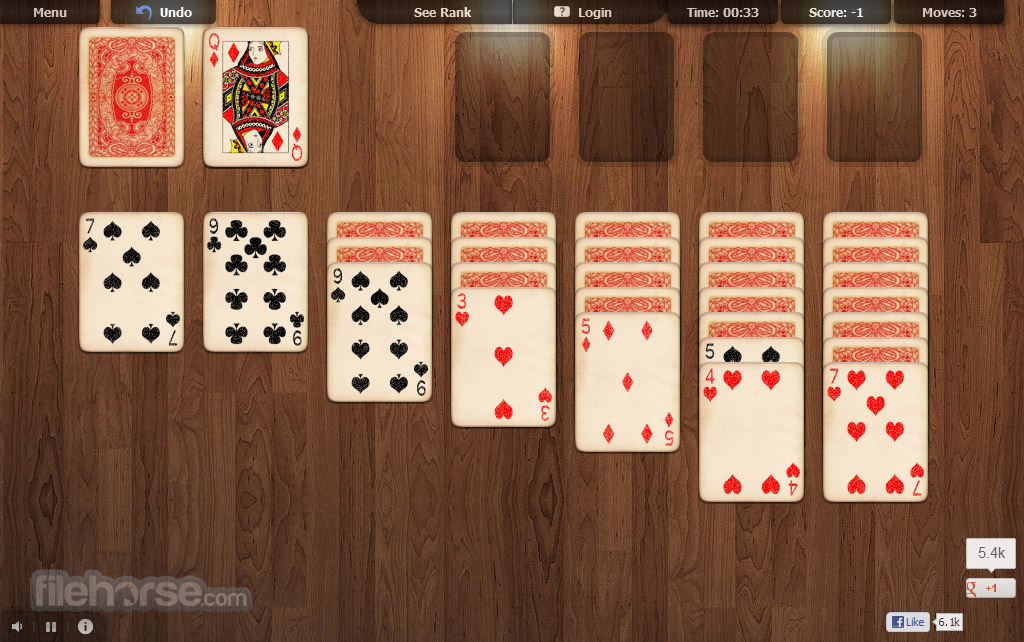 Online Solitaire One Click And It S Ready For Play Solitaire In Your Browser Filehorse Com