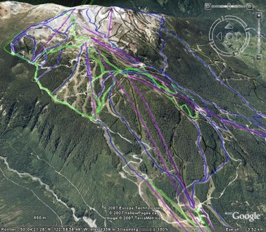 3D Ski Map of Whistler   Blackcomb Resort in Google Earth    Morzine     Visit my Blog for updates on this file and other resorts  its called 3d ski  maps on blogger