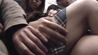 schoolgirl gets harassed in train