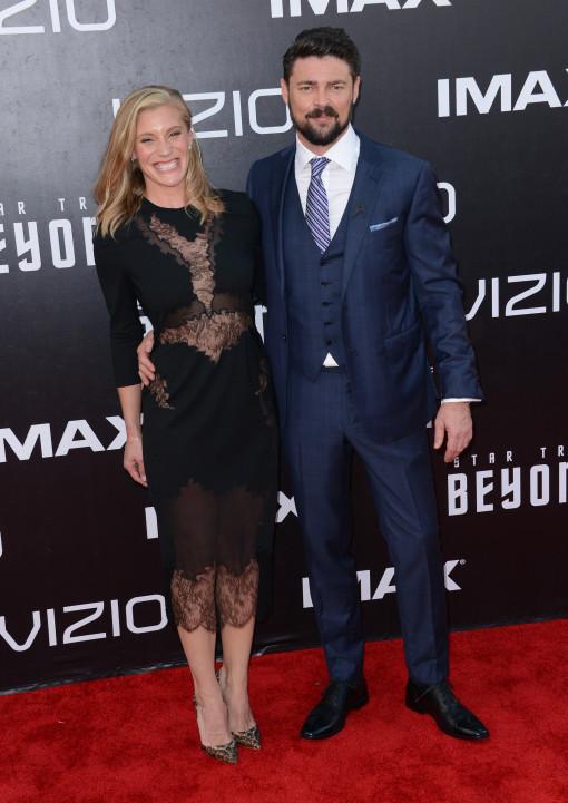Karl Urban and girlfriend Katee Sackhoff - 'Star Trek ...