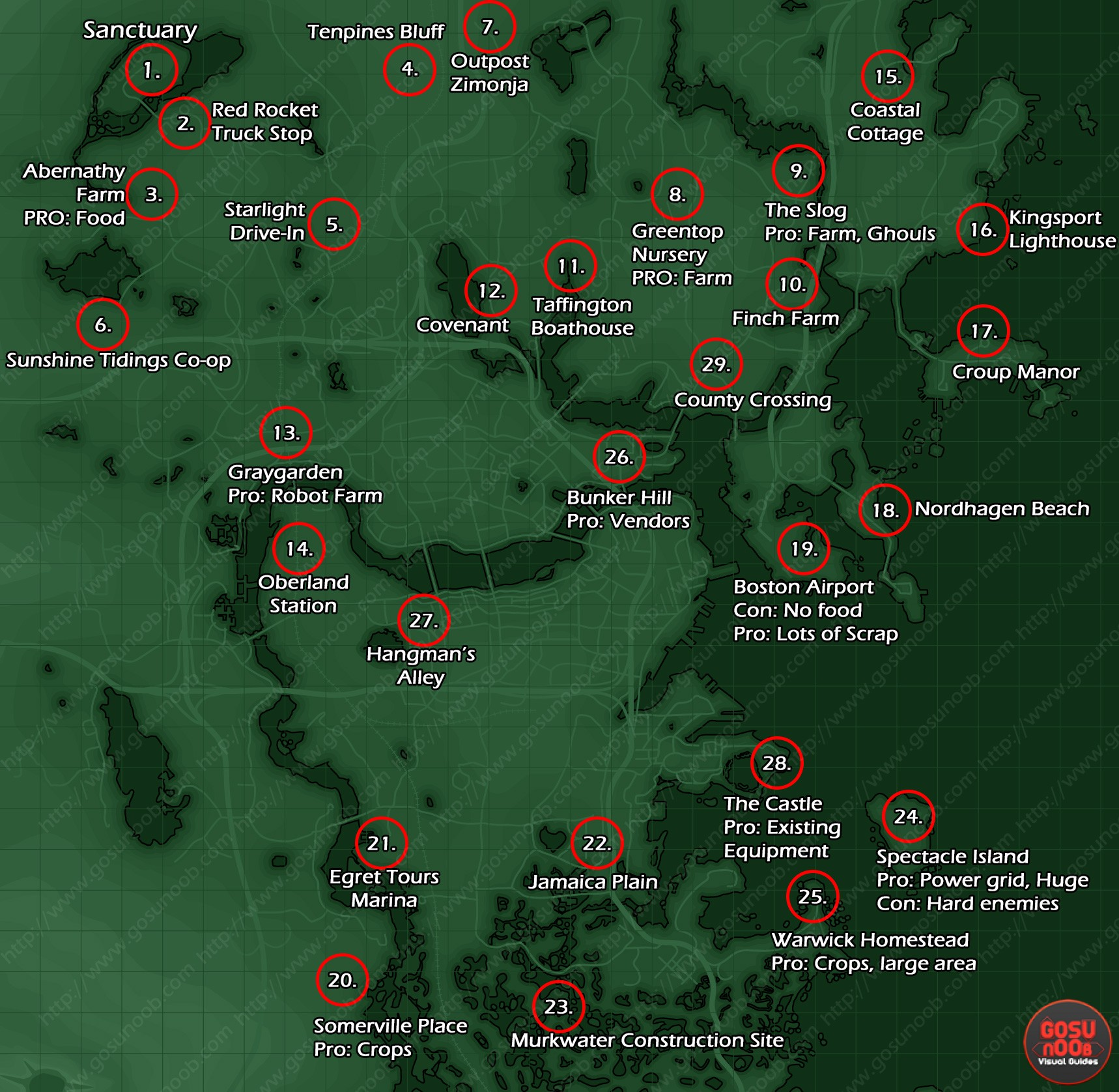 Fallout 3 Intel Locations Map