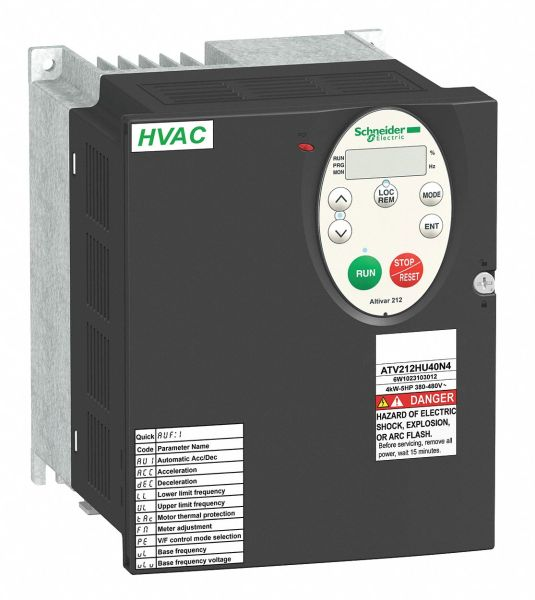 SCHNEIDER ELECTRIC Variable Frequency Drive 7 1 2 Max  HP 3 Input     Variable Frequency Drive 7 1 2 Max  HP 3 Input Phase