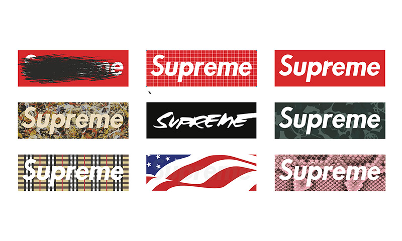 Page Logo Coloring Supreme Box