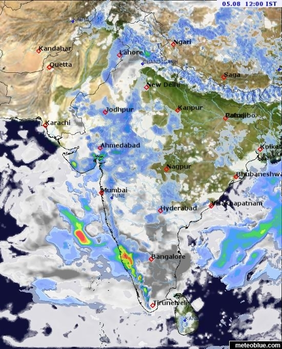 Weather maps   India   meteoblue map map