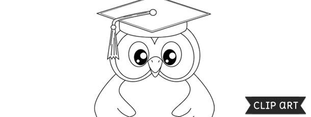 Graduation Owl Template Clipart