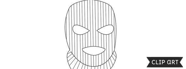 Ski Mask Template Clipart
