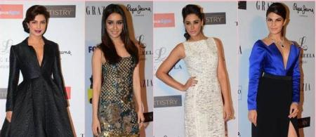 Bollywood stars at Grazia Young Fashion awards 2015 Hindi Movie     Bollywood stars at Grazia Young Fashion awards 2015