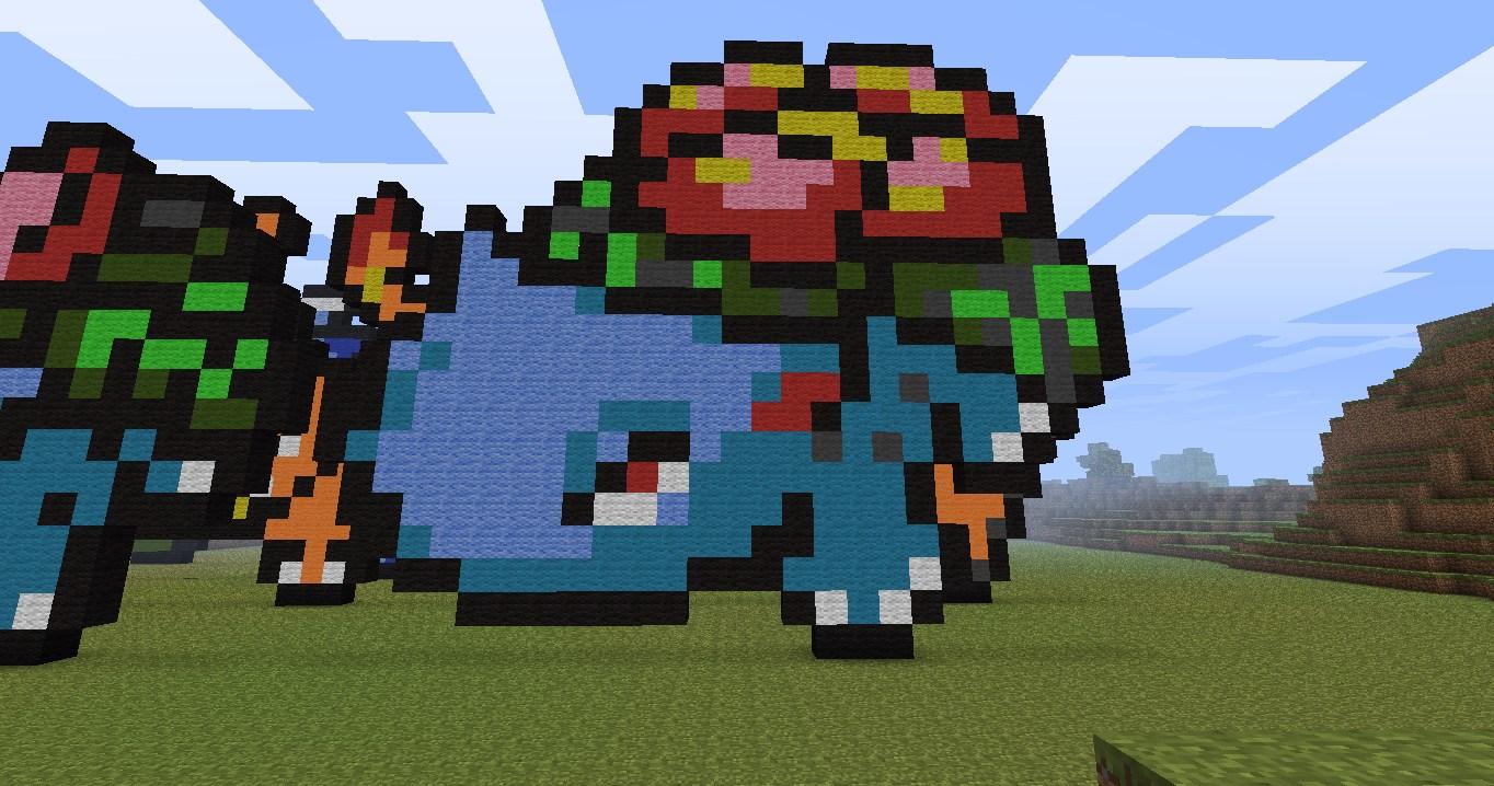 Minecraft Pixel Art Blastoise