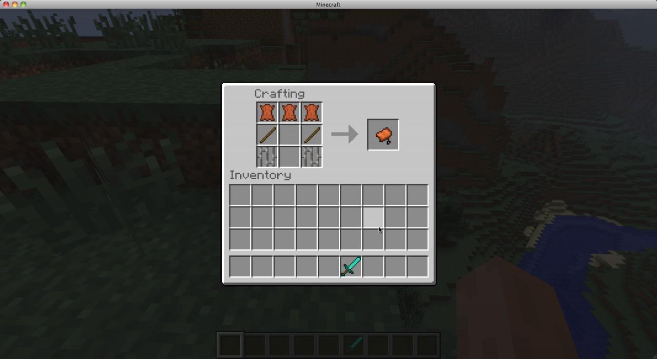 Minecraft How Make Saddle
