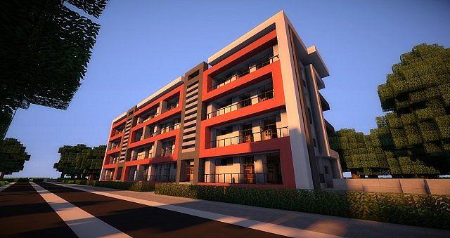 Sunset Modern Apartments Minecraft Project