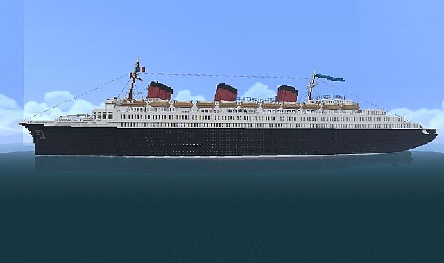 Ss Normandie French Cruise Ship Amp Ocean Liner Minecraft Project