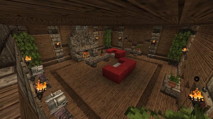 Castle Living Room Decor