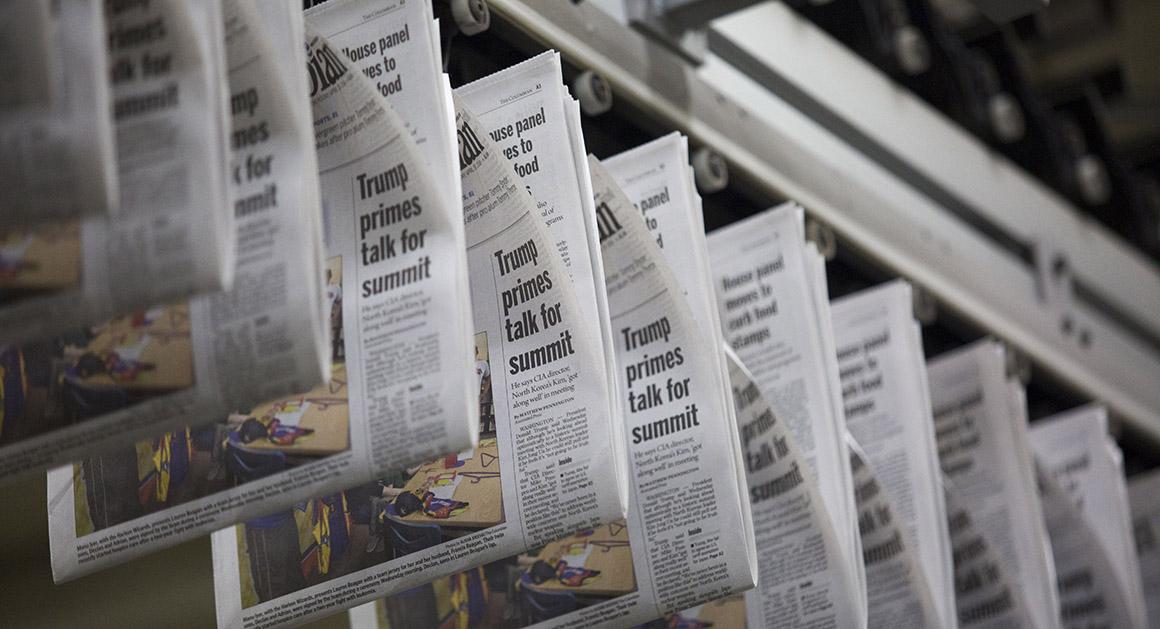 Congress Steps Up Efforts To Reverse Newsprint Tariffs