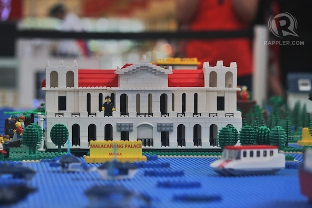 Showcase of PH tourism spots in Lego map