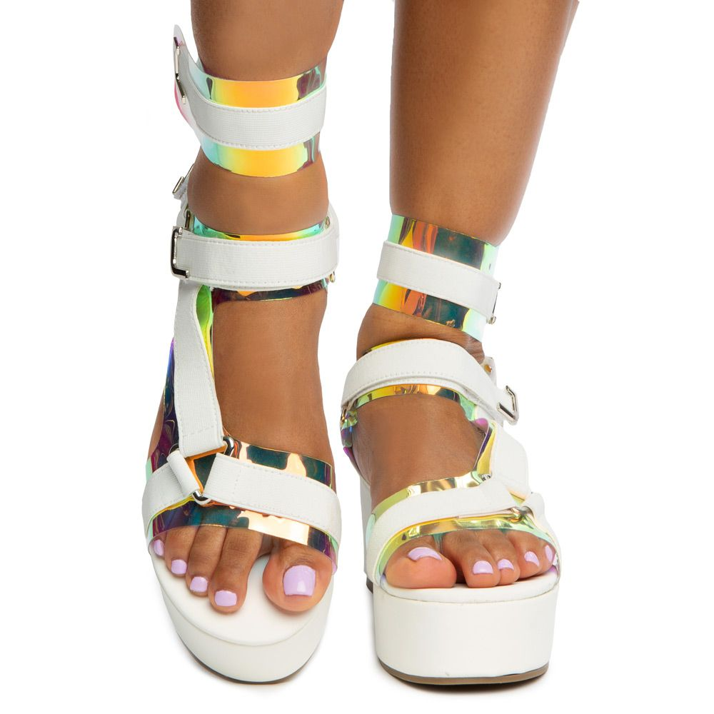 High Sandals Clear Wedge Color 5 Size Heel
