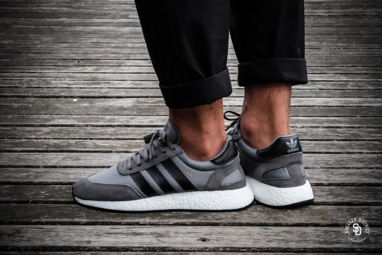 huge selection of 42ed9 f690b Black Grey Adidas Iniki Runner