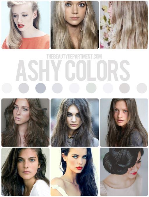 Light Chart Ash Color Hair Blonde