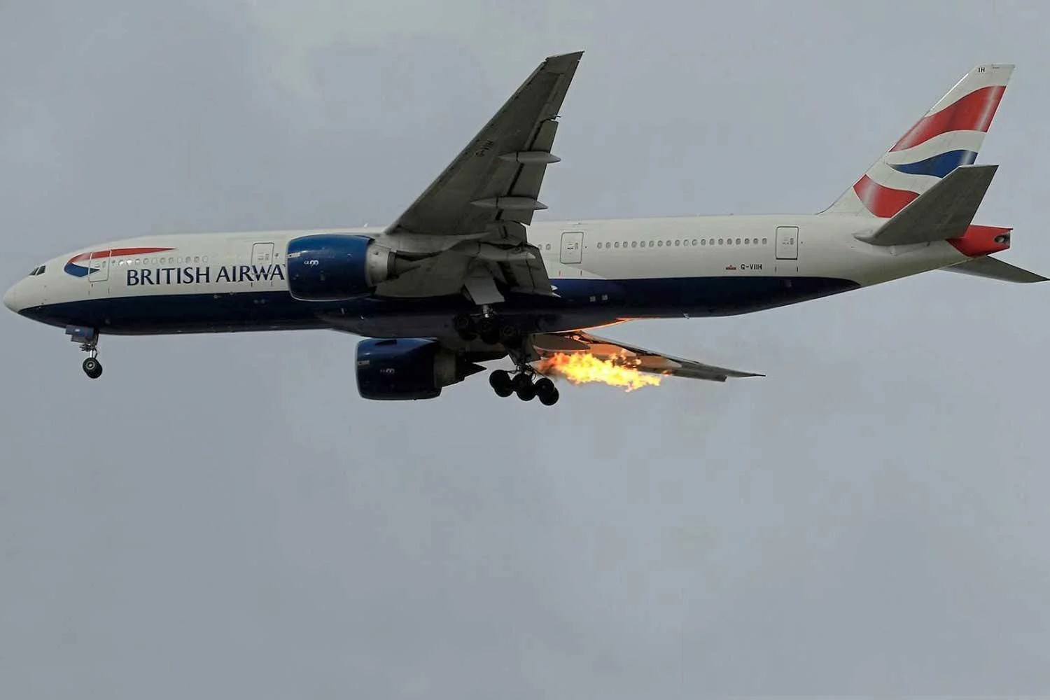 Plane Catches Fire As Man S Journey From London To Athens