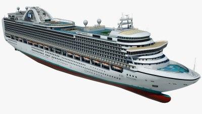 Cruise ruby princess ship 3D model - TurboSquid 1167139