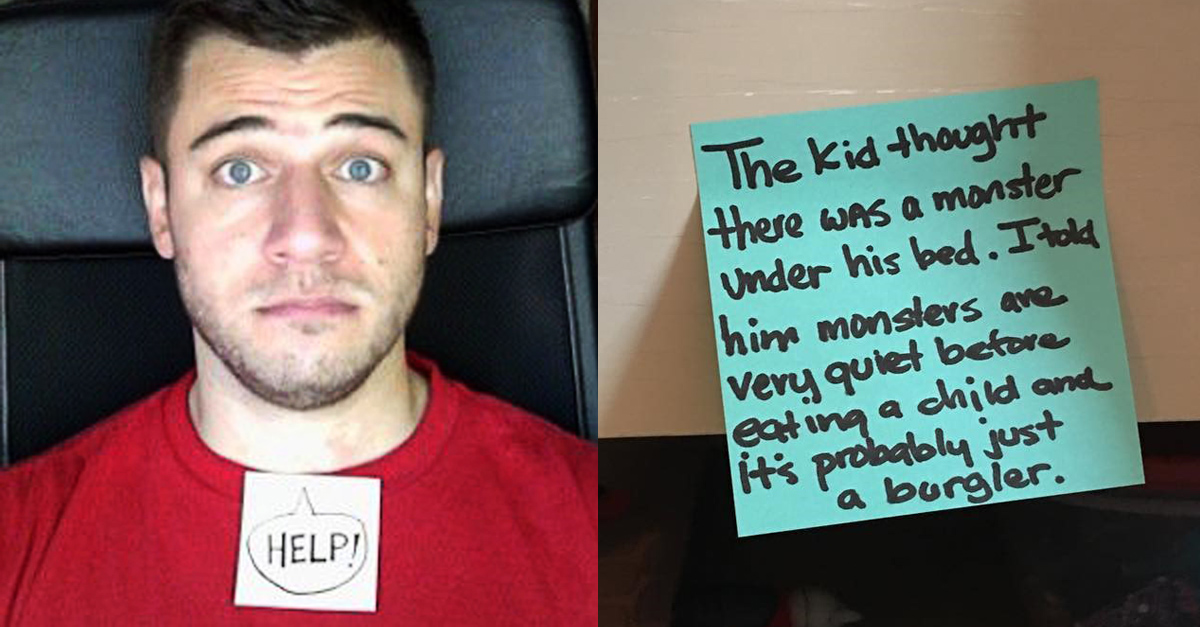 This Stay-At-Home Dad's Post-It Notes Are Hilarious | BPM