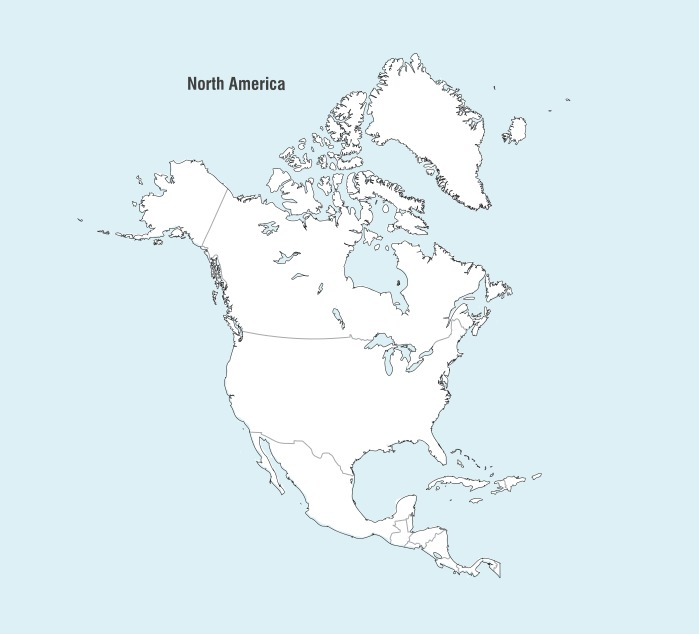 North America Map Vector - Download Free Vector Art, Stock ...