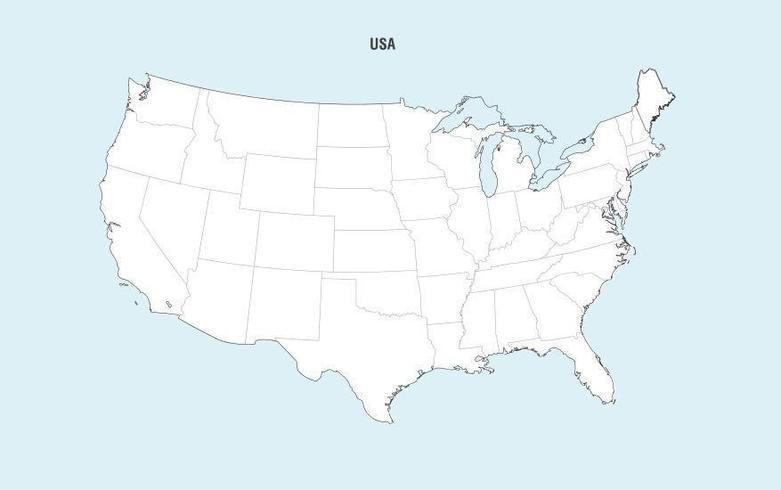 Map of usa states free download United States Map Vector Download Free Vector Art Stock Graphics