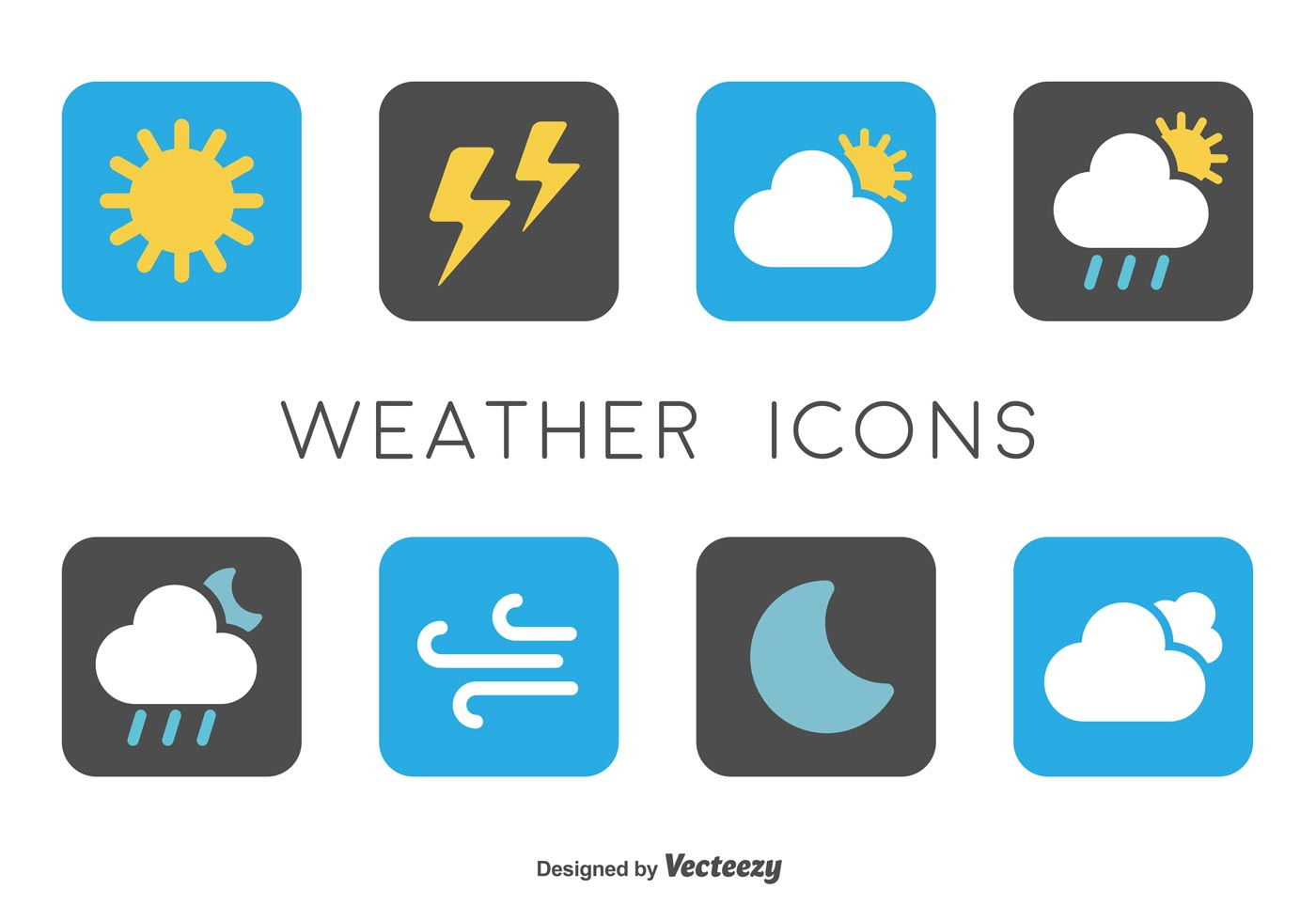 Weather Forecast Symbols Thunderstorm