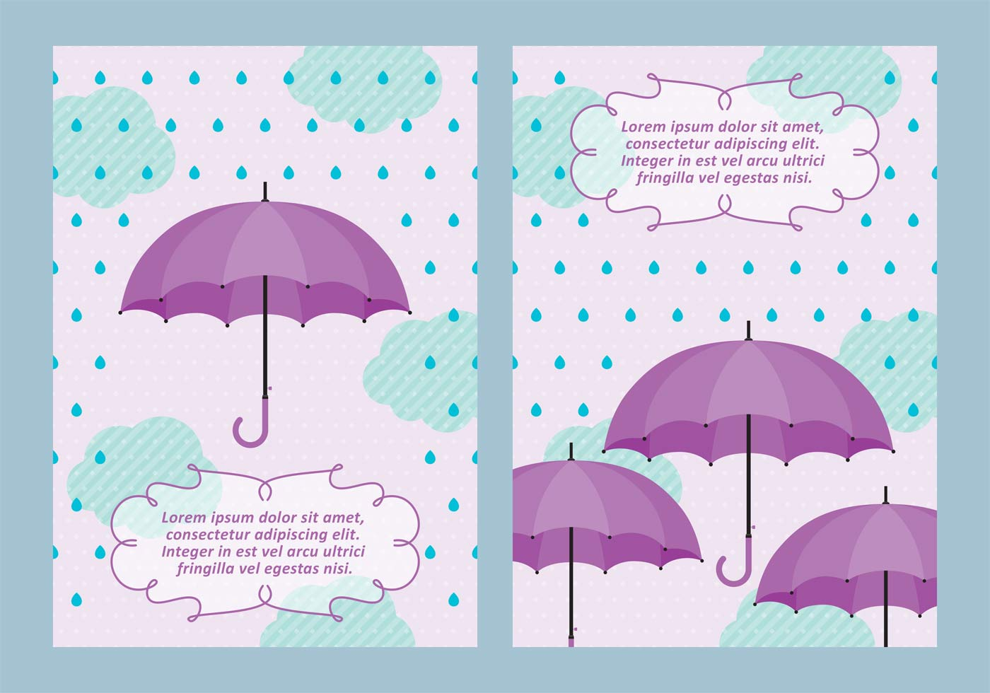 Spring Showers Background With Umbrella Vectors Download Free Vectors Clipart Graphics