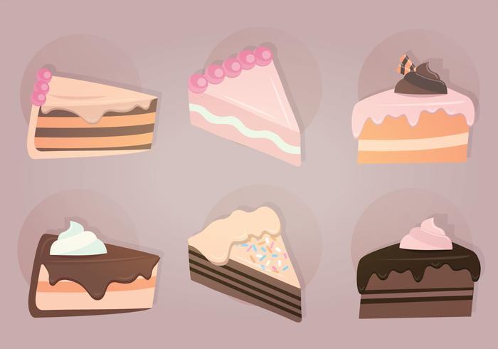 Slices Of Cake Vector Illustration Download Free Vectors