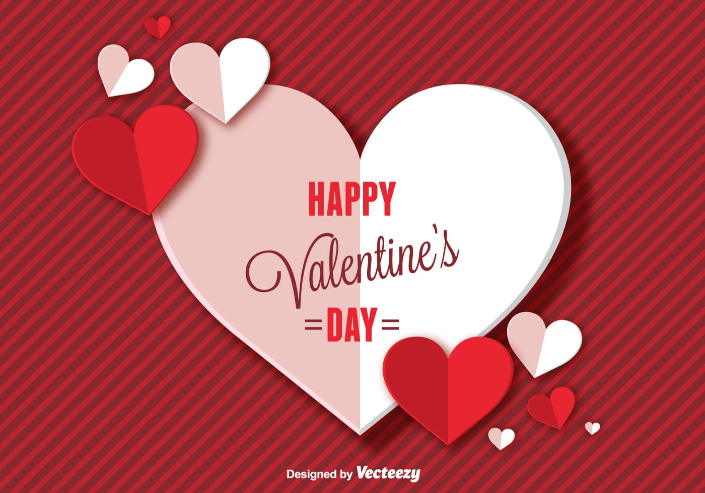 Happy Valentines Day Background - Download Free Vector Art ...