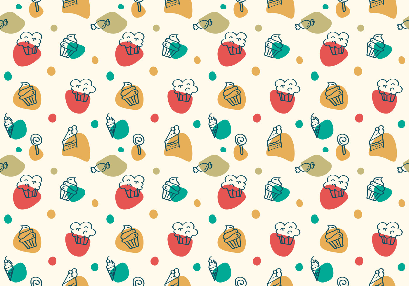 Free Cake And Dessert Vector Patterns Download Free