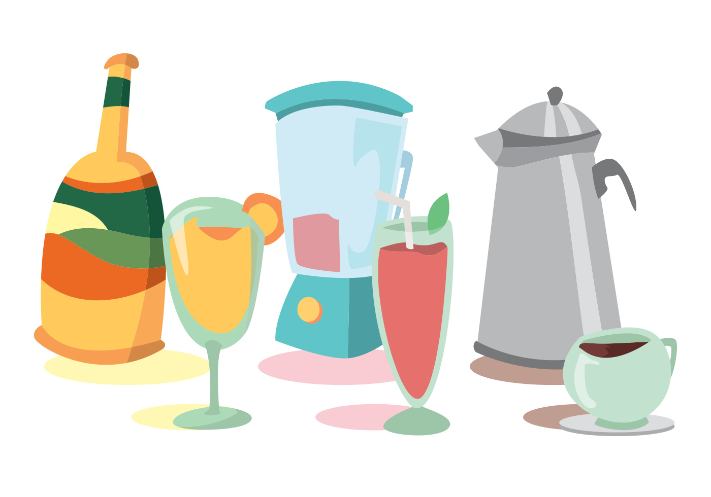 Mimosa Vector Set Download Free Vector Art Stock Graphics Amp Images