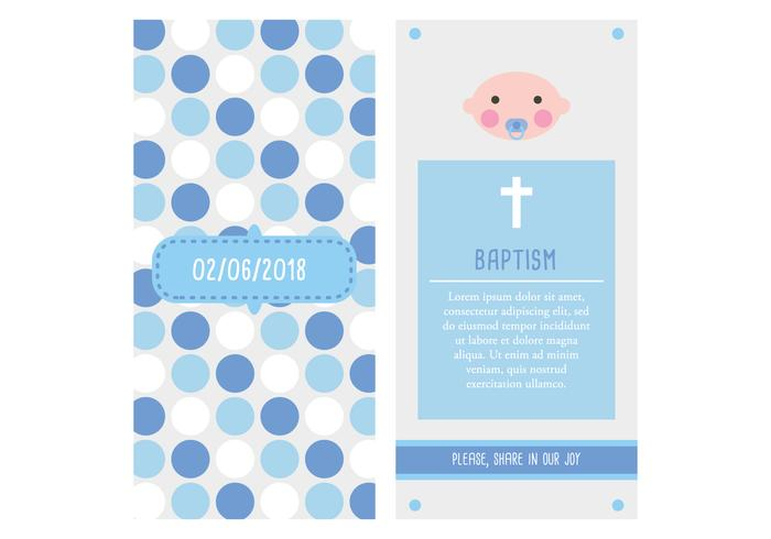 Invitation Card Christening Baby Boy