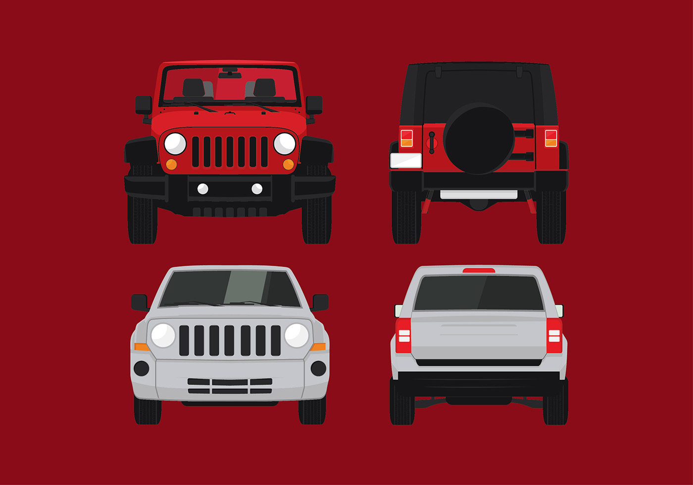 Jeep Front Free Vector Download Free Vectors Clipart