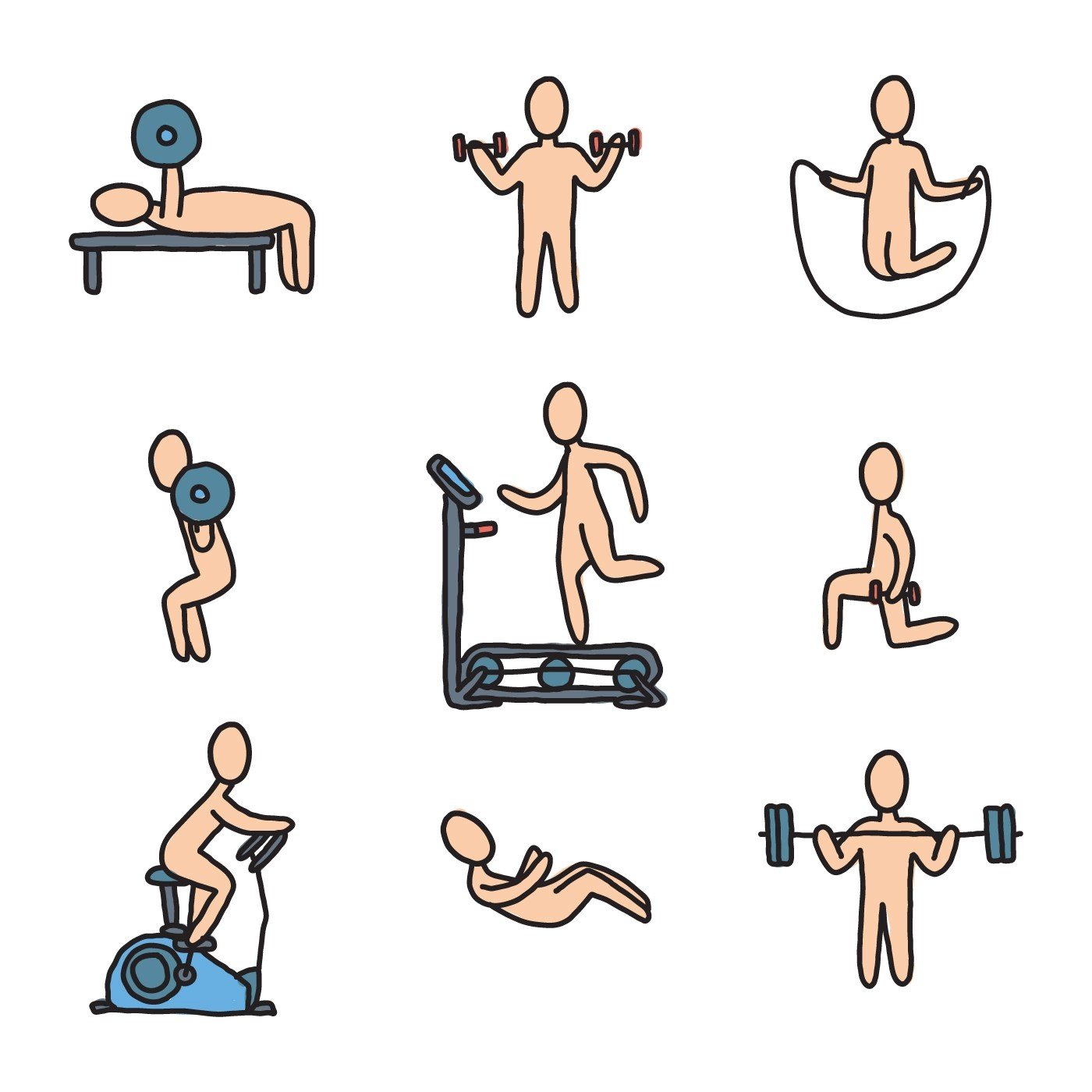 Fitness Trainers Making Exercise Download Free Vectors