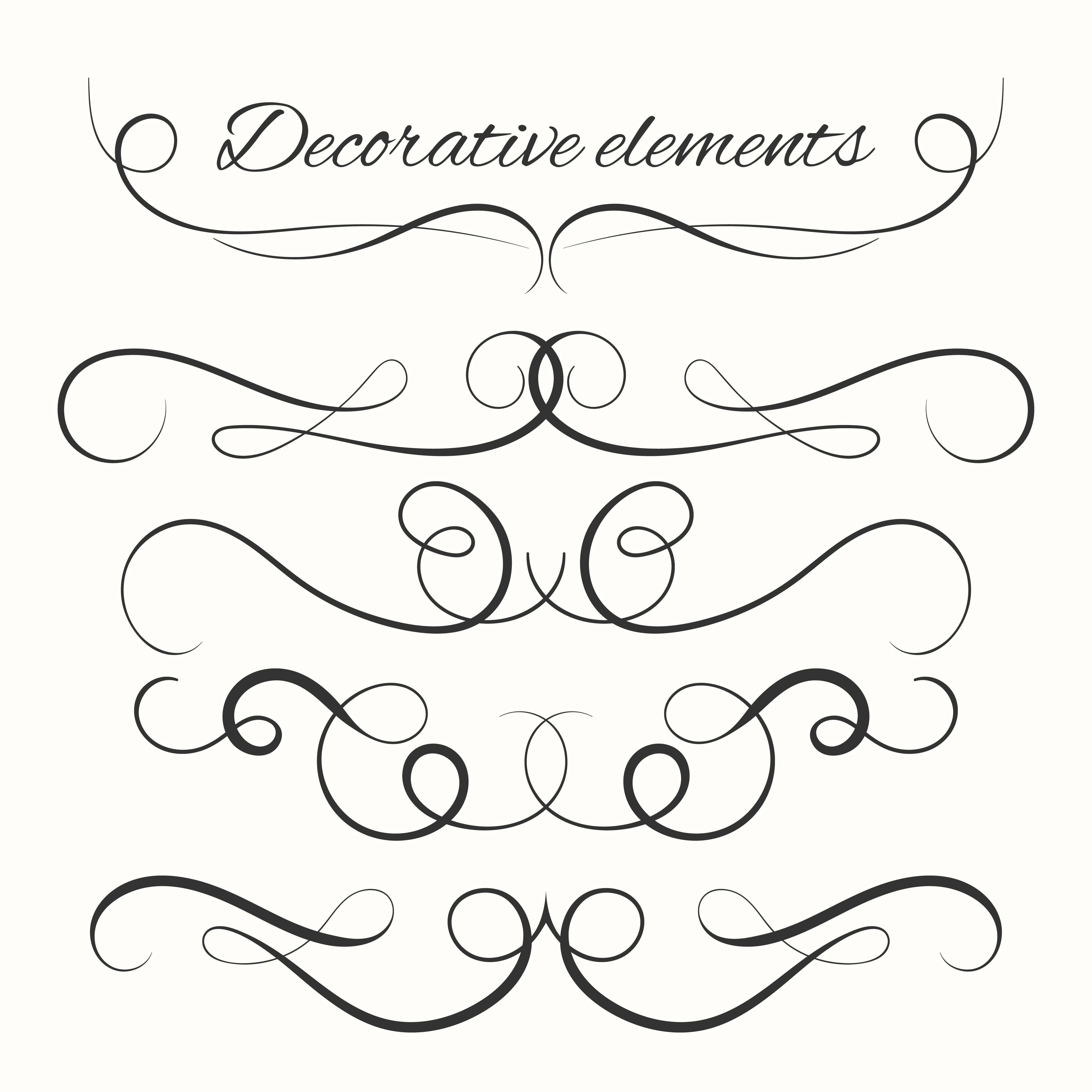 Decorative Art Elements Clip