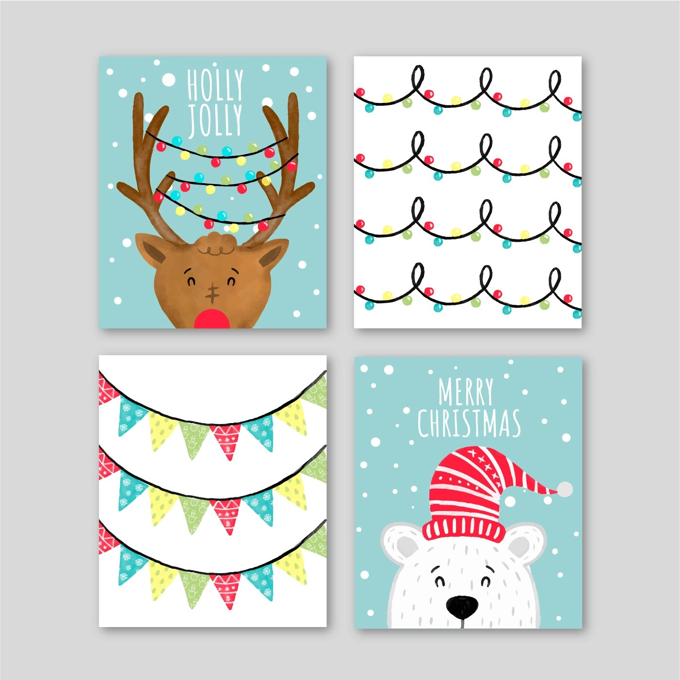 Cute Christmas Cards With Characters - Download Free ...