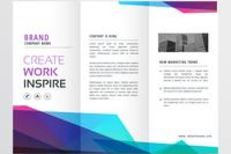 Tri Fold Brochure Free Vector Art    4959 Free Downloads  abstract colorful tri fold brochure design template