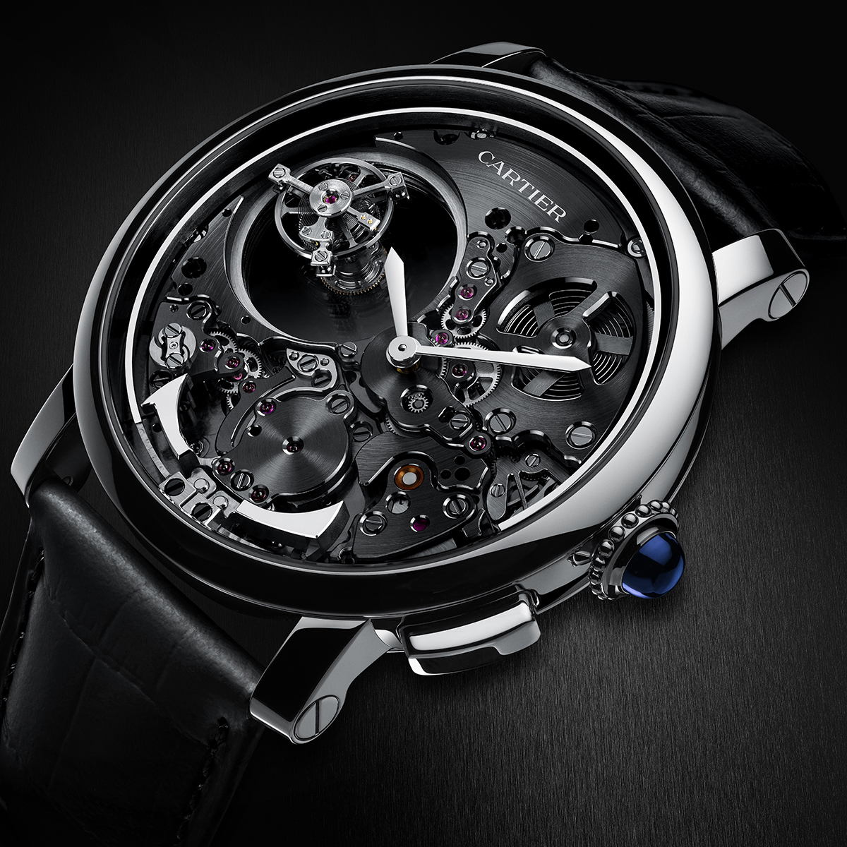 The Panther Prowls Again  Cartier Resurrects an Iconic Collection     Cartier  Rotonde de Cartier Minute Repeater Mysterious Double Tourbillon