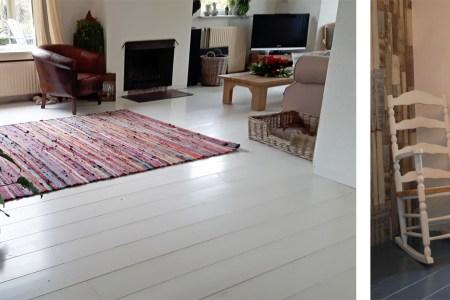 Houten tafel wit verven » mooihuis 2019 mooihuis