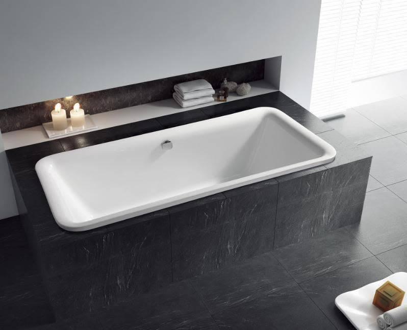 Sem Venetia inbouw bad 175x77cm wit - Badkamer & Co