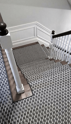 Stair Runners Carpet Hall Runners K Powers Company | Designer Carpet For Stairs | Stair Railing | Farmhouse | Classical Design | Style New York | Rectangular Cord Treads