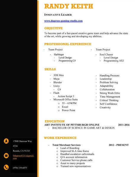 Randy Keith Game Design   Dgs gaming   Resume Randy   Resume pdf