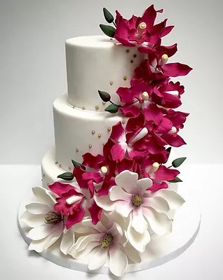Custom cakes by Delicious Arts Los Angeles Wedding Cakes