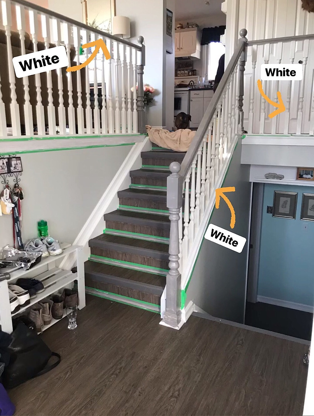 How To Paint Stair Spindles The Easy Way | Grey Banister White Spindles | Silver | Indoor | Pewter | Gloss | Wrought Iron