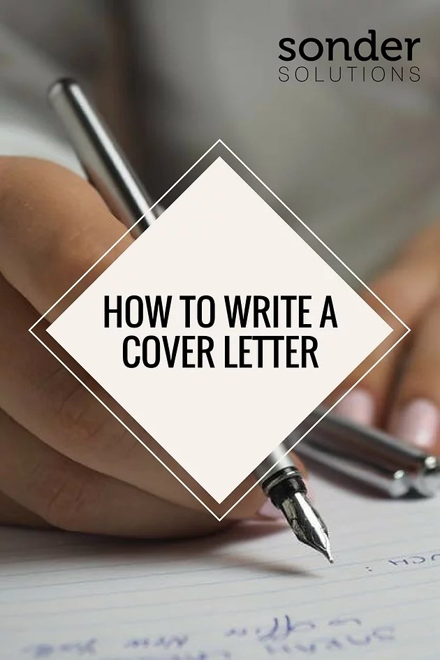 Writing the Perfect Cover Letter   sondersolutions Writing the Perfect Cover Letter