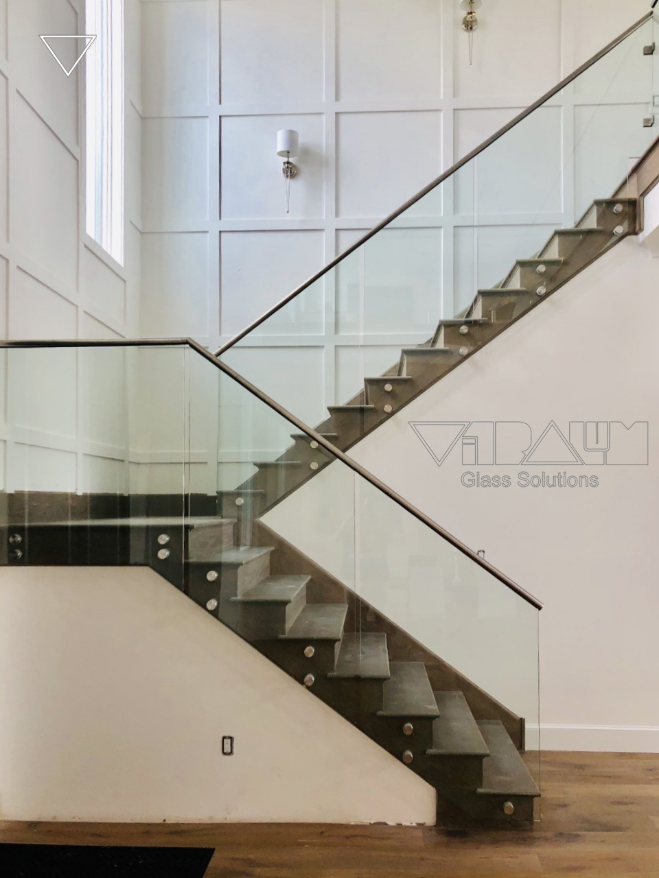Frameless Glass Railings Orlando Vitralum Glass Solutions   Glass Balustrade Stairs Near Me   Railing Systems   Handrails   Wood   Floating Stairs   Tempered Glass Panels